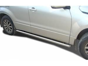 Защита штатного порога d60 на Suzuki Grand Vitara (5 дв.) (2012-2014)