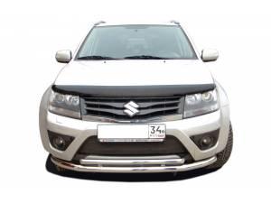 Защита переднего бампера двойная d60/42 на Suzuki Grand Vitara (5 дв.) (2012-2014)