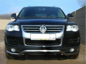 "Защита переднего бампера ""волна"" d60 на Volkswagen Touareg (2007-2010)"