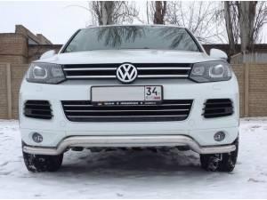 "Защита переднего бампера ""волна"" d60 на Volkswagen Touareg (2010-2013)"