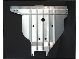 Защита заднего бампера алюминий 4 мм на Nissan X-Trail (2011-2014)