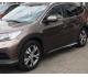 Боковые пороги OEM STYLE на Honda CRV (2013-2014)
